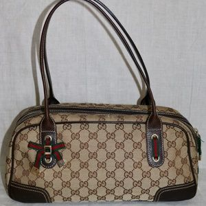 "Gucci Signature ""GG""s Abbey Bow shoulder handbag"